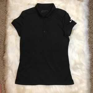 NIKE GOLF WOMEN FIT SLIM BLACK T-shirt Size S